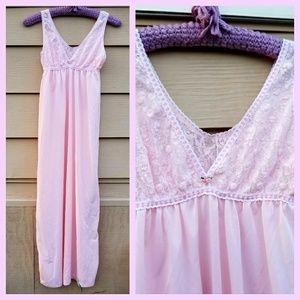 Vintage Cotton Candy Pink 50's Long Slip